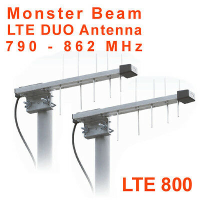 LTE 800 Monster Beam Antena, 4G im 800 MHz, 10m Cable FME en SMA (Telekom)