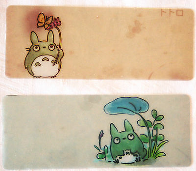 2 x Small Totoro Bookmarks Translucent Plastic Studio Ghibli Japanese Animation