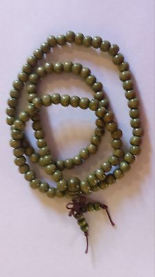 BNIP Apple green 7mm Mala Beads Elasticised Mala Beads 108 Beads