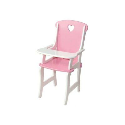 NEW Fun Factory Wooden Dolls Pink High Chair from Baby Barn Discounts