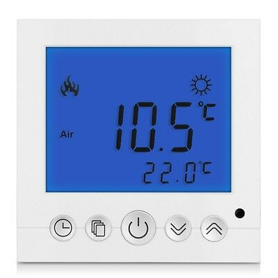 Heating Thermostat Temperature Controller Blue LCD Display Programmable JL