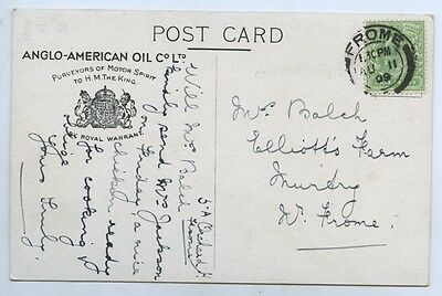 C1909 Pt Pu Adv Postcard Anglo-American Oil Co Suppliers To The King J2