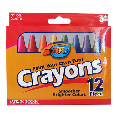 12 Premium Jumbo Crayon 12 Bright Color Ultra Smooth Non-toxic Great Art Drawing
