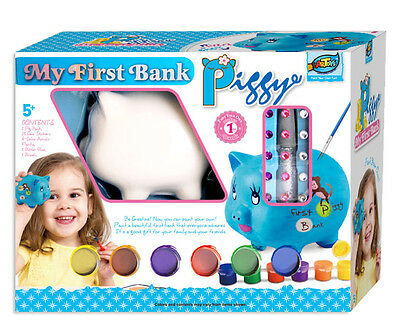 Paint You Own Fun My First Bank Ceramic Money Box Piggy Good Gift for Kids Craft