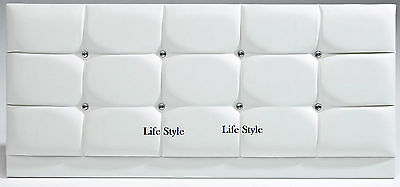 Crystal Diamante Faux Leather Headboard in 2ft6,3ft,4ft,4ft6,5ft,6ft & 7 Colours