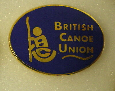 BRITISH CANOE UNION Enamel Lapel Pin Badge ROWING