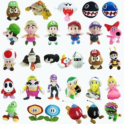 Super Mario Bros Plush TV Character Soft Toy Collectible Nintendo Doll Figure