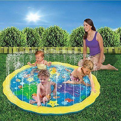 Inflatable Toddler Garden Sprinkle Splash Play Mat Water Spray Toy Baby Pool Pad
