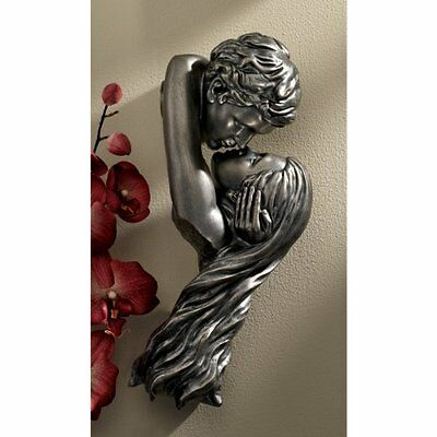 Lovers Wall Sculpture Figure Art Decor Home Office Modern Couple Kiss Metal Hang