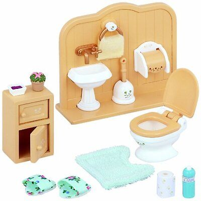 Sylvanian Family Furniture Toilet Set Accessories Lavatory Home  Role Play Toy