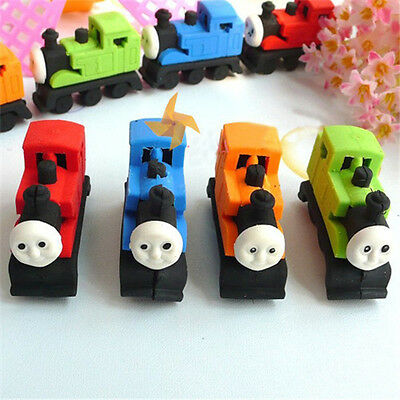 4pcs Novelty Thomas Train Style Erasers Rubbers Gift Toy Party Bag Gift