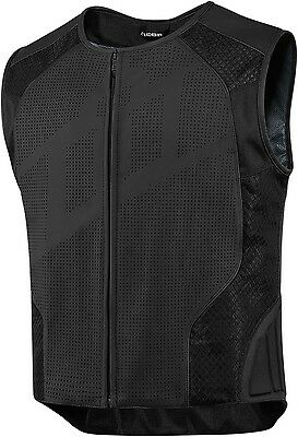 New 2016 Icon Hypersport Stripped Motorcycle Vest Street Stunt Cruiser All Size
