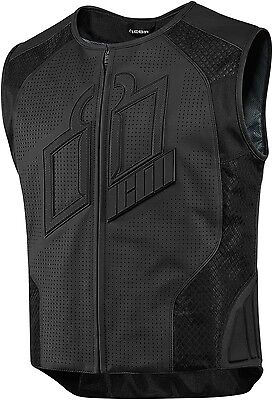 New 2016 Icon Black Hypersport Prime Motorcycle Vest Street Cruiser All Size