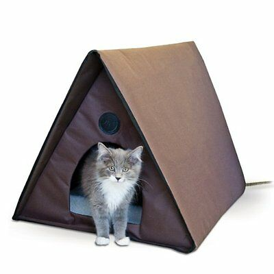 Heated Cat Shelter Outdoor Kitty House Feral Cats Kittens Waterproof Warm Large