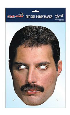 Freddie Mercury Official Queen 2D Card Party Face Mask Fancy Dress Up Rock Band