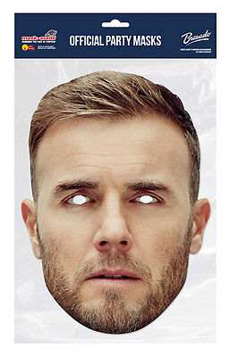 Gary Barlow Official Take That 2D Card Party Face Mask Fancy Dress Up Pop Band