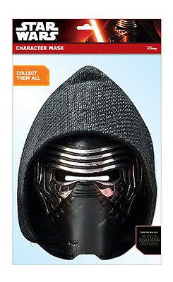 Kylo Ren Star Wars The Force Awakens 2D Card Party Face Mask Fancy Dress