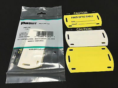 Panduit PST-FO Vinyl Self-Laminating Tag Fiber Optic Cable , Yellow/Black