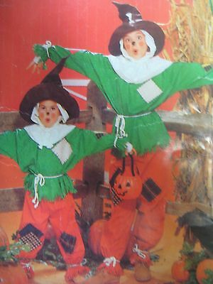 Vintage Butterick 4287 SCARECROW HALLOWEEN COSTUME Sewing Pattern CHILD Sz 4-14