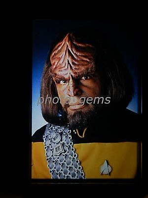Michael Dorn Star Trek: The Next Generation  Original 35mm Color Promo Slide