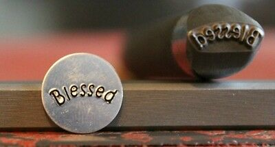 """SUPPLY GUY 1/2"""" or 5/8"""" Advantage Series Blessed Word Metal Design Stamp AD-50"""