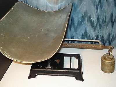 Scale Antique,Vintage Continental Scale Works Beam Type Baby Scale W/Weights