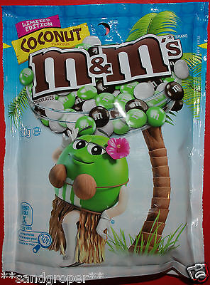 AUSTRALIAN COCONUT FLAVOURED M&M's 1 x 180g PACKET M&Ms