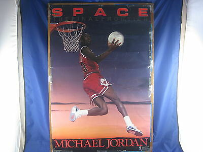 Michael Jordan Poster Space The Final Frontier 1990 Costacos Brothers Inc Lay-Up