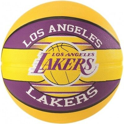 Spalding LA Lakers Team Basketball Size 7 Adult Outdoor Basket Ball Official