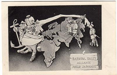 Early ANGLO JAPAN Political Alliance Against Russia  French Satirical  Postcard