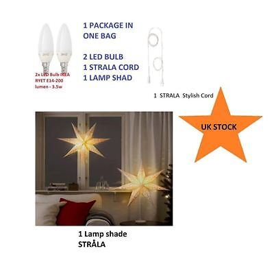 Strala Bright Glowing Pendant Lamp IKEA Shade Decorative Lighting For XMAS pup10