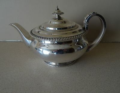 GOOD QUALITY, ANTIQUE, GEORGE III, ENGLISH STERLING SILVER TEAPOT, LONDON c1816