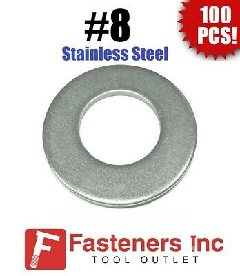 Qty 250 Stainless Steel NAS Flat Washer #8