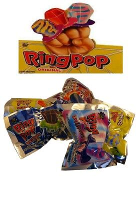 Bulk Lollies 12 x RING POP Wrapped Sweets Birthday Party Favor Loot Lolly Bag
