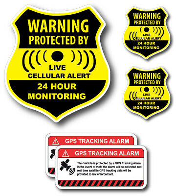 5 CCTV VIDEO SURVEILLANCE Security Burglar Alarm Decal  Warning Sticker Signs