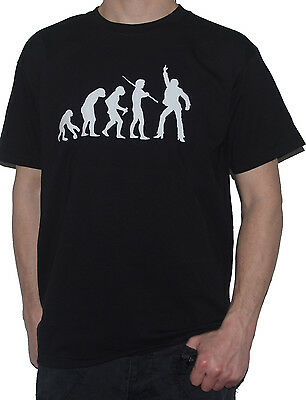 NEW APE TO DISCO MUSIC DANCER Funny Evolution of Man T-SHIRT Retro Dancing Moves