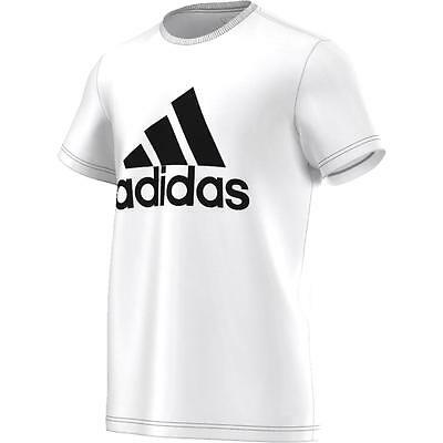 NEW adidas, adidas Men's Sport Essential Tee White, in White/Black