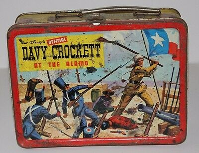 Vintage Lunchbox 1955 Davy Crockett At The Alamo In Ok Condition