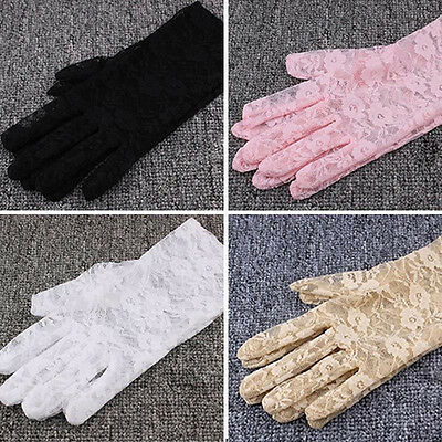 Women's Sexy Lace Wrist UV Protection Sun Block Bridal Driving gloves