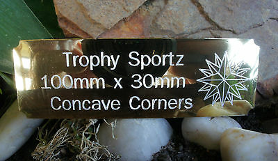 100mm x30mm CONCAVE CORNERS ,SELF ADHESIVE ENGRAVING PLATES,CUSTOM ENGRAVED
