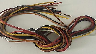 "One lace only 72""x 1/8""   Rawhide Leather Shoe Boot Lace String  cord"