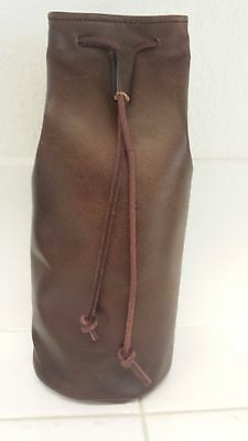 Medieval Handmade Leather Pouch Bag - large, Drawstring Renaissance 10x5