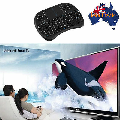 Hot! mini i8 Black Wireless Keyboard with Touchpad for smart TV PC  TV^
