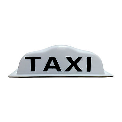 42cm Taxi Roof Sign Aerodynamic Magnetic Taximeter Cab Top Lamp 12V White Light