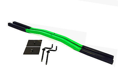 Snowmobile Trailer ski Tie Down Hold Down Bars 1pair Green With Crank And Plate
