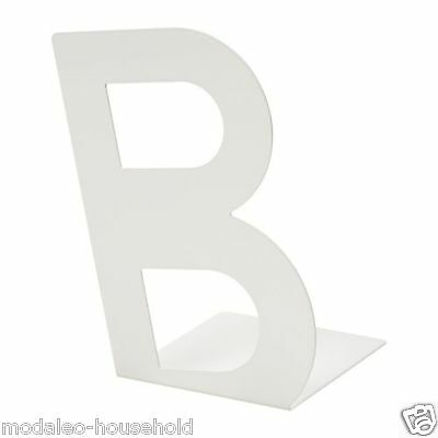 IKEA BUSBASSE White 'B'-Shaped Bookend/Book-End for home and work, office-B786