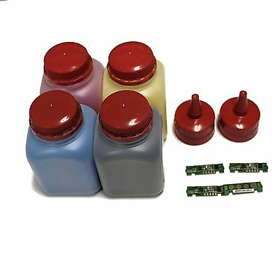 4 Toner refill kit with Chips for Samsung CLT-406 CLP-365W 3305W SL-C460FW C410W