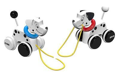 Disney 101 Dalmatians Wooden Pull Along Puppy Toy Spring Tail Top Quality New