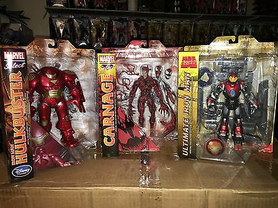 Marvel Select Carnage, Hulkbuster, & Ultimate Iron man (1st Issue) Lot Of 3
