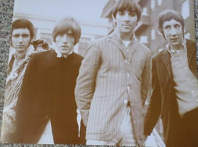 The Who In Their Younger Days Group Shot Sepia Poster